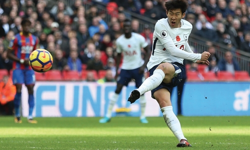 Son strikes as Spurs squeeze past Palace