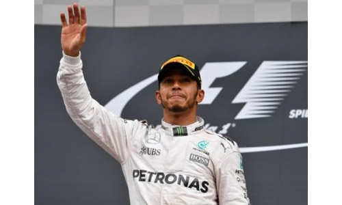 Hamilton fastest before rain hits Silverstone