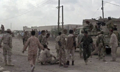 Five soldiers killed in Houthi drone attack