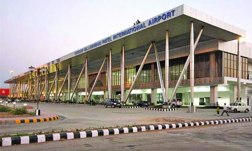 Cow causes chaos at Indian airport