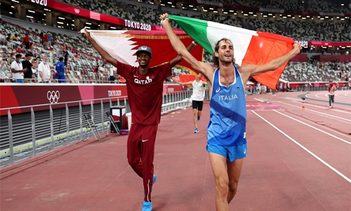 Mutaz Barshim, Gianmarco Tamberi decide to share high jump Olympic gold medal
