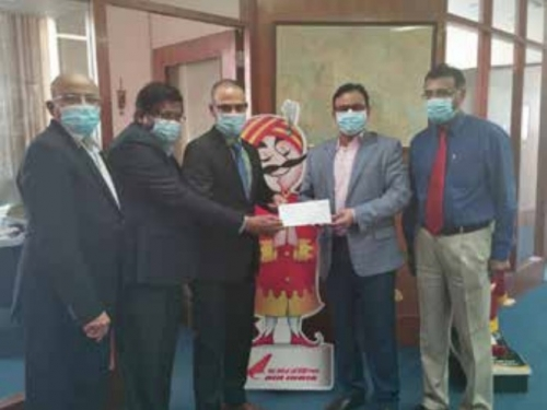 ICRF hands over cheque to Air India in sponsorship initiative