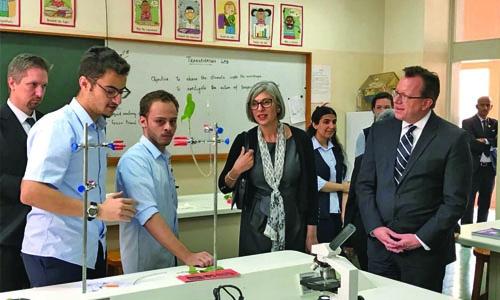 U.S. Ambassador Visits Al-Raja School
