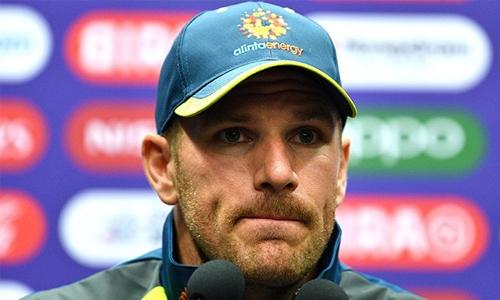 Finch hopes washouts don't hurt Australia