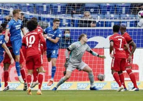 Hoffenheim ends Bayern Munich's unbeaten run
