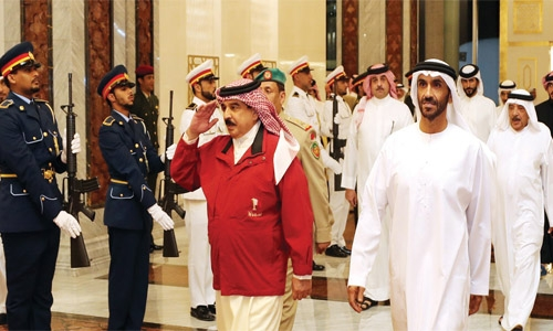 HM King arrives in UAE