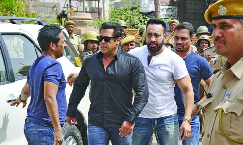 After getting bail on Blackbuck poaching case, Salman Khan reaches Mumbai