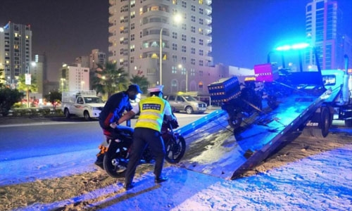Bahrain Traffic register 3885 motorcycle-related violations