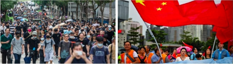 Rival rallies as HK divisions deepen