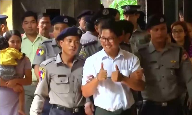 Reporters jailed in Myanmar