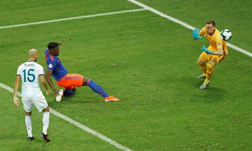 Colombia stun Argentina