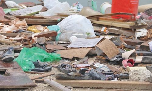 Al Dair beach turning into a dump yard