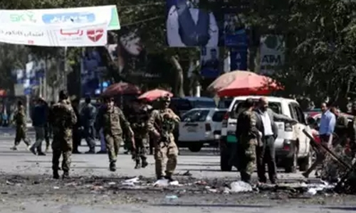 Blast near Afghan presidential rally kills 48