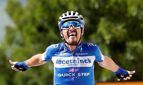 French break open champagne as Alaphilippe bags stage and Tour lead