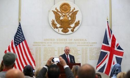 Tillerson in London to urge pressure on North Korea