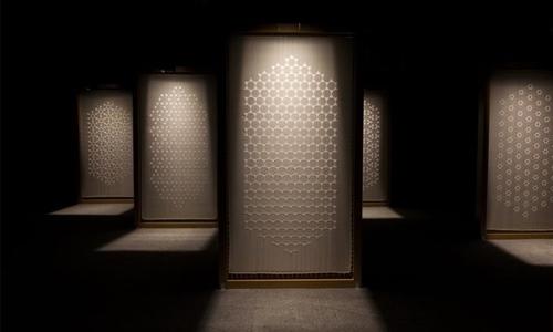 Dana Awartani uses Indian craftsmanship to explore Arab poetry in Sharjah