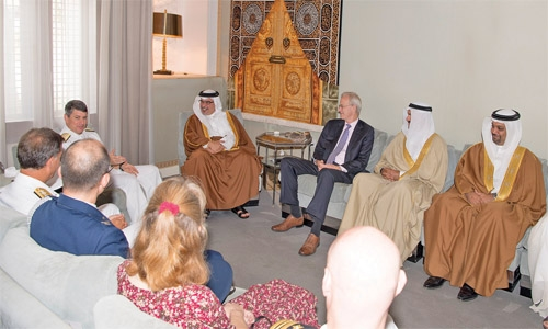 Crown Prince receives US envoy, outgoing Fifth Fleet commander