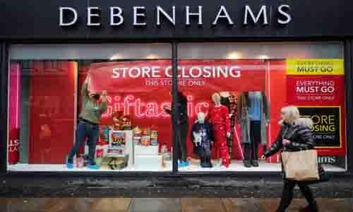 Major fashion retailer Debenhams shuts all stores, around 12,000 jobs lost