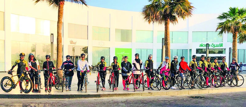 For the first time in Bahrain an all-girl cycling group glides across the Kingdom