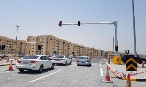 New traffic light installed on northern Shaikh Zayed Road