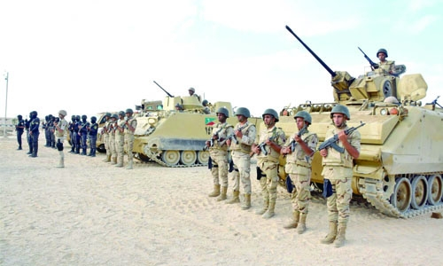 16 terrorists killed in army raids in Egypt