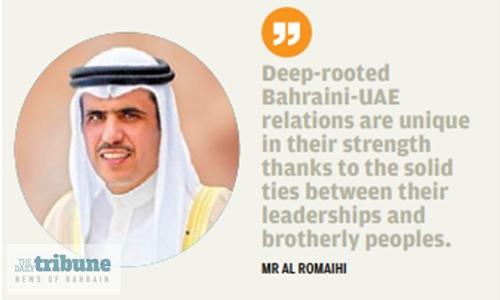 Bahraini-UAE relations 'model for unity, strategic partnership'