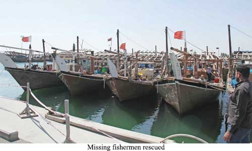 Missing fishermen rescued