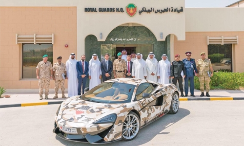 McLaren 570S support for defence exhibition in Bahrain