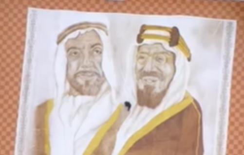Saudi Arabian artist makes world's 'largest coffee painting'