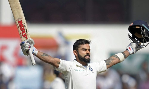 Kohli's double hundred headlines India's run feast