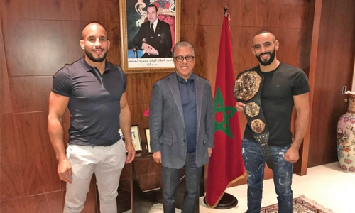 Brave champion greeted by Moroccan Ambassador in Dubai