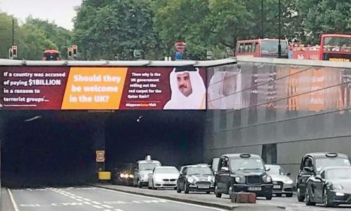 Controversy surrounds Qatari Emir's UK visit