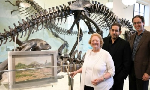 Fulfilling a passion, opera comes to dinosaur hall