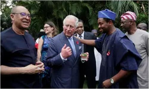 Britan's Prince of Wales goes 'pidgin' in Nigeria