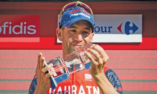 Nibali claims  Vuelta third  stage
