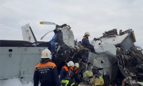 Plane carrying 23 people, including parachute jumpers crashes in Russia; 16 dead