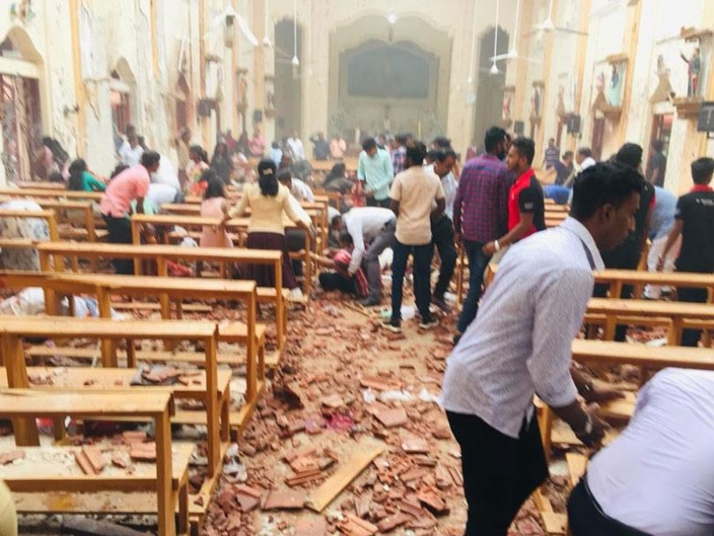 Bomb blasts target churches, hotels, in SriLanka, on Easter morning
