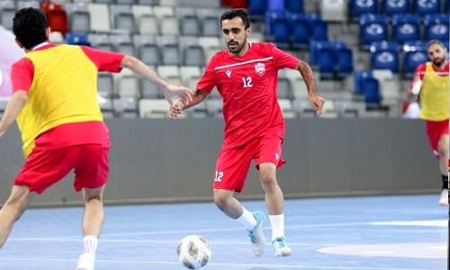 Bahrain futsal team step up training for Arab Cup