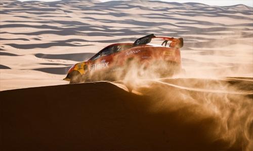 Bahrain Raid Xtreme in top ten after Dakar Rally desert stage