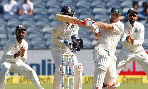 Australia 256-9 at stumps in 1st India Test