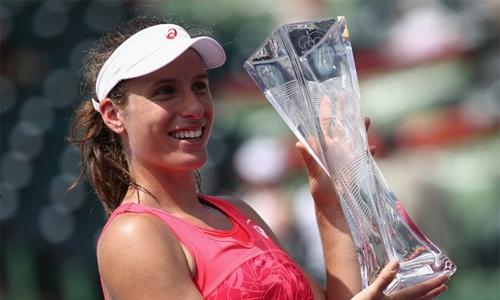 Konta beats Wozniacki for Miami WTA title