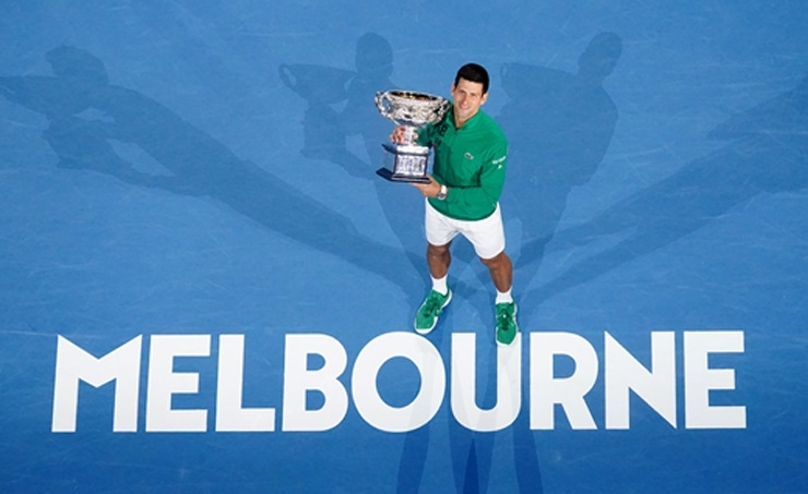 Djokovic outlasts Thiem to get record eighth Australian Open title
