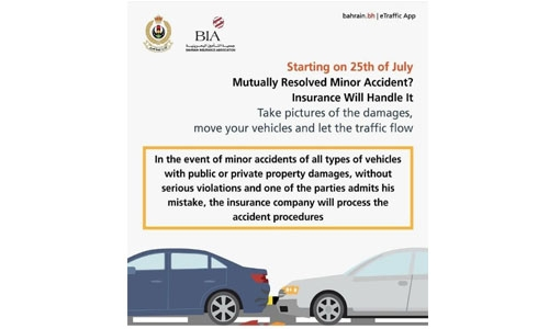 Bahrain insurance companies set to handle minor traffic accidents