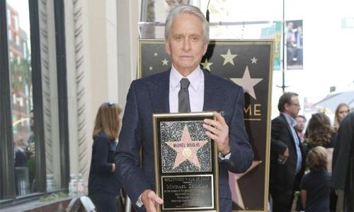 Actor Michael Douglas gets star on Hollywood Walk of Fame