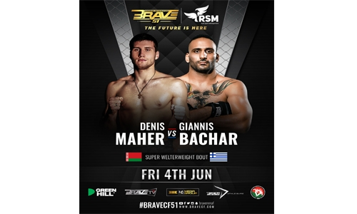 Maher to face Bachar at BRAVE CF 51 co-main event