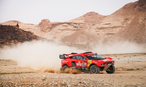 Roma, Loeb maintain top ten overall rankings after difficult day in Dakar Rally 2021