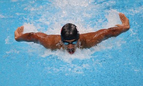 Bahrain's Abdulla unlucky in Butterfly heats