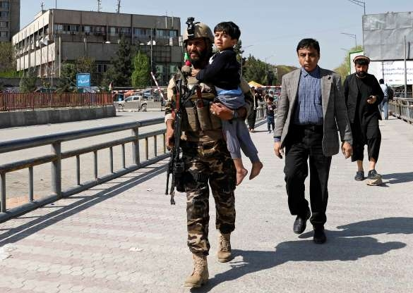 Explosion, gunfire rock downtown Kabul