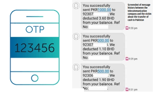 OTP fraudsters strike, this time from Pakistan