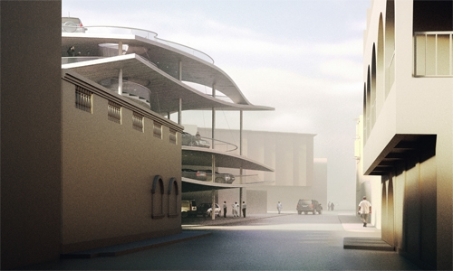 Spectacular structures of the Pearling Path project of Muharraq